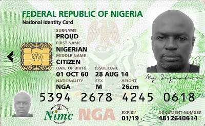 National Identification  Number Becomes Mandatory For All Transactions From Sept. 2015 2