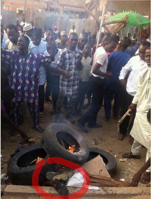 See What Kano Female Suicide Bomber Did To Her Leg Before