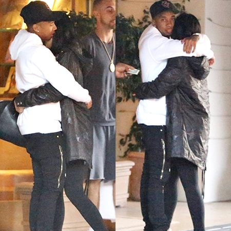 Tyga And Kylie Kiss