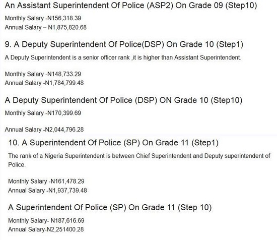 Nigerian Police Force Salary Structure | MyJobMag