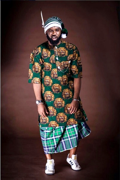 Adidas Sneakers On Native Isi Agu Noble Igwe Is The Igbo
