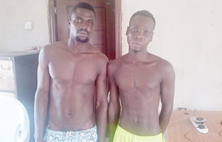 Two Notorious Thieves ThatHas Been Terrorising Lekki Residents Apprehended (See Photos)