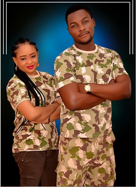 Nigerian Soldier and his lover