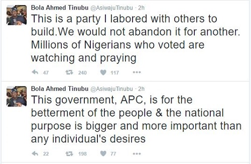 'This is a party I labored to build' Bola Tinubu has revealed his plans for APC