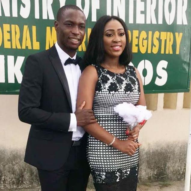 super eagles striker ties the knot with sweetheart in