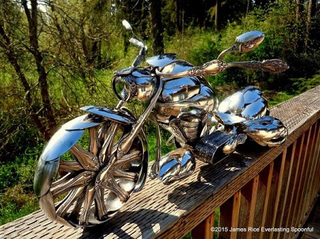 Unbelievable! See the Amazing-looking Motorcycles Made Exclusively With Spoons (Photos)