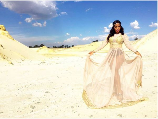 Hot Nigerian Singer, Emma Nyra Flaunts Black Undies in New See-through Gown (See Photo)