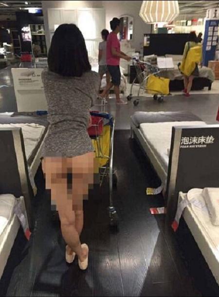 chinese no panties