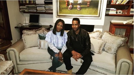 Wow! Tiwa Savage Storms South Africa, Meets With Nelson