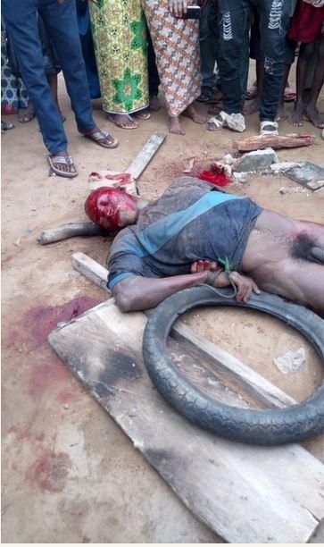 Jungle Justice Notorious Ikorodu Criminal Baddo Burnt