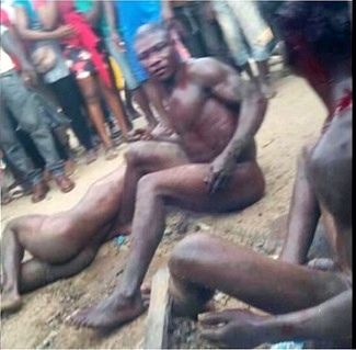 nigerian girl forced naked