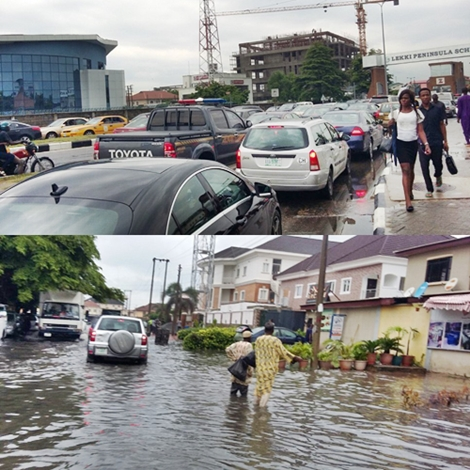 Massive Flood Causes Total Gridlock at Leking Trapping Residents at Home (See Photos)