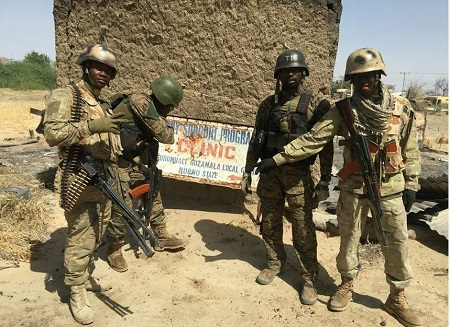 Soldiers Clear Boko Haram Militants from Borno Town  Nigerian Army Special Forces