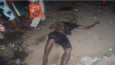 Wicked!!! See What Angry Mob Did to a Man Who Was Caught Stealing ATM