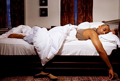 black man in bedroom
