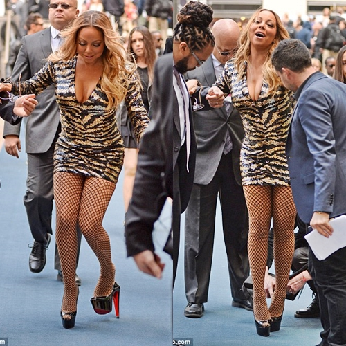 a46786874084 Embarrassing Moment Mariah Carey Lost Balance on a Red Carpet
