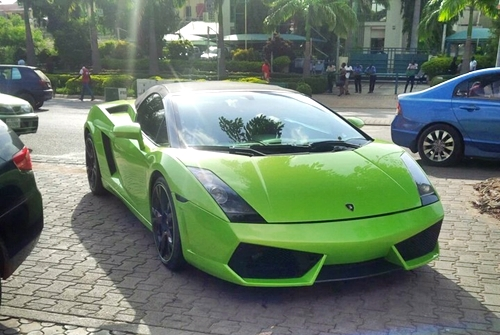money speaking multi million naira lamborghini luxury car spotted in abuja photos gistmania. Black Bedroom Furniture Sets. Home Design Ideas