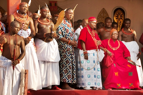 The oba of benin burial rites is under way as citizens are warned not to cook with fire
