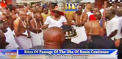 Crowned Prince Of Benin Performs Izakhue Rites Ahead Of Oba's Funeral