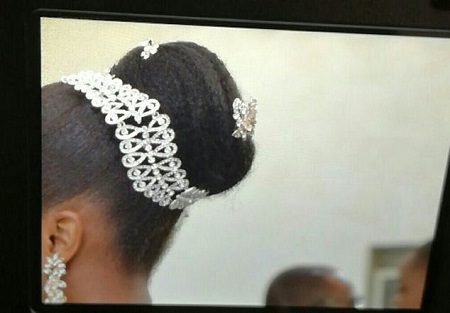 {filename}-Serious Drama As Mfm Church Officials Force Bride To Cut Off Her Hair On Her Wedding Day (photo)