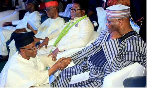 Image result for el rufai kneels for atiku