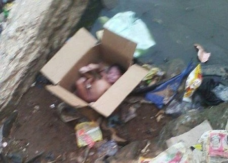 Wicked World! See How a Mother Dumped Her Newborn Baby in the Bush Path in Delta (Photo)