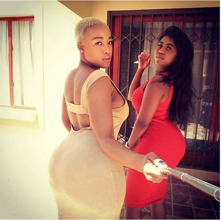 African hottie and friend attend tourist 7