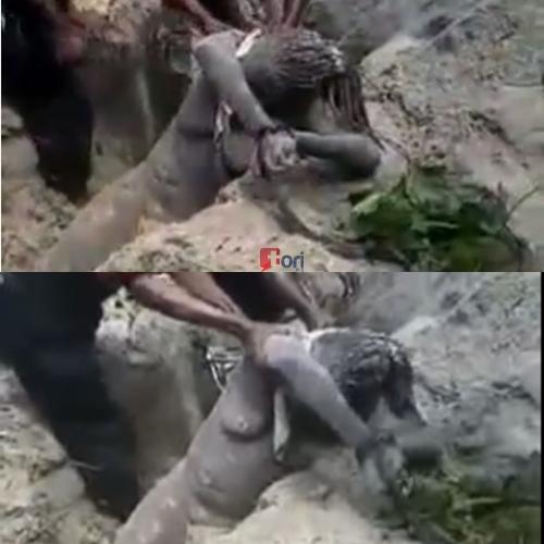 Buried alive bukkake clip