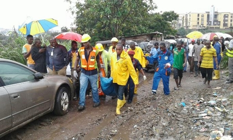 Image result for Mudslide kills one at an illegal Shanty in Lagos