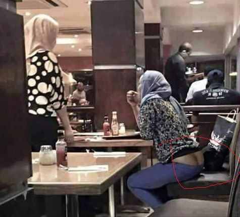 Photos Lady Wearing Hijab Mistakenly Exposes Her Bum Bum