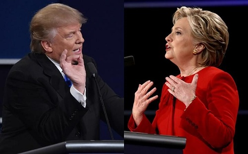 hillary clinton donald trump winning
