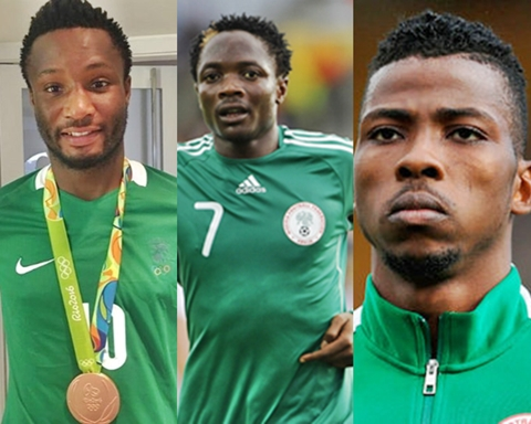 Image result for Mikel, Iheanacho, Musa
