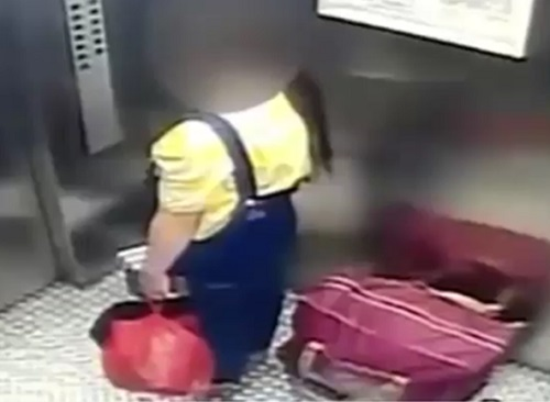 Shocking! Teenage Mother Caught Throwing Out Newborn Baby in a Dustbin (Video)