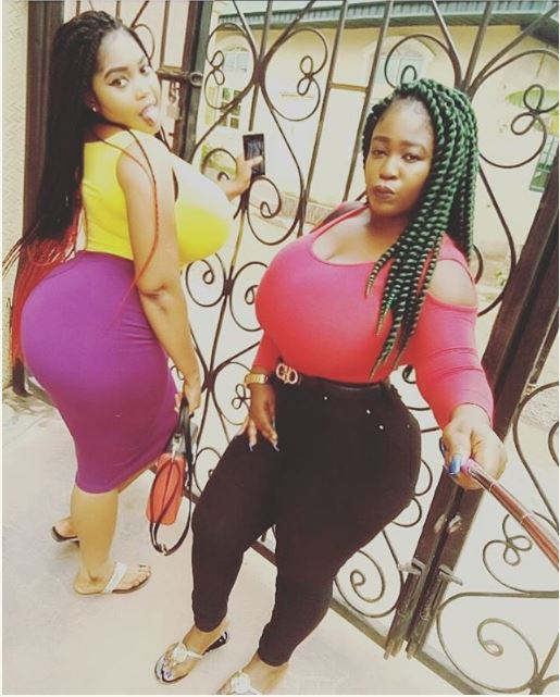 Two Nigerian Sisters Cause Stir On Internet With Their Massive B00bs Bigger Than Cossys Photos