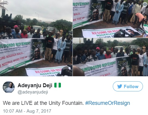 Resume or Resign: Charly Boy, Adeyanju, Others Commence Protest Against Buhari as He Surpasses 90 Days