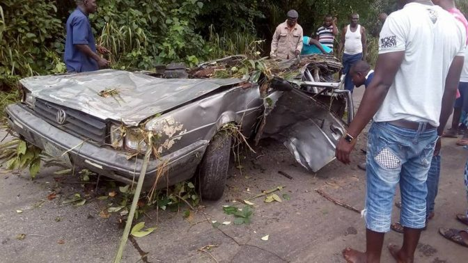 Drunk Truck Driver Crushes Four People to Death After Tanker Fell on a Car in Delta State (Photos)