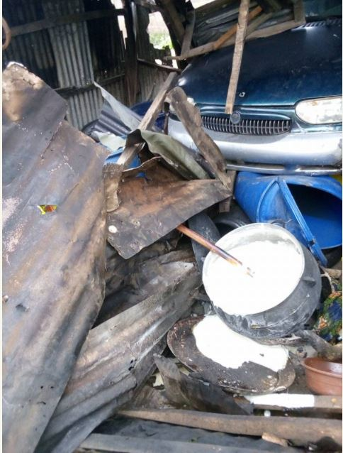 Car Rams into Pap Seller, Injures Her and 2 of Her Grandchildren in Abeokuta (Photos)