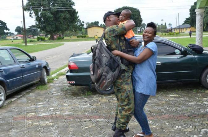 So Sweet! Nigerian Soldier Surprises Family as He Returns From Fighting Boko Haram (Photos)