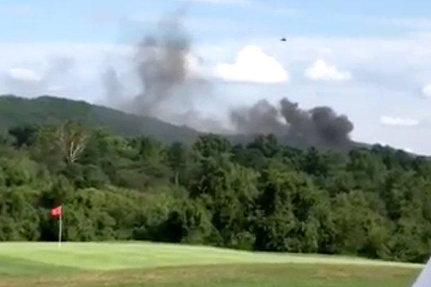 Horror as Police Helicopter Carrying Officers Crashes Into a Golf Course...Shocking Details