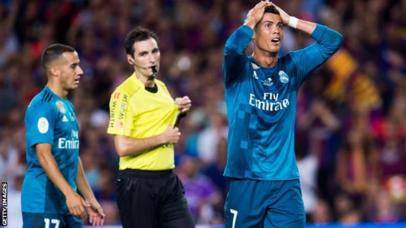 Cristiano Ronaldo Banned for Pushing Referee in Spanish Super Cup