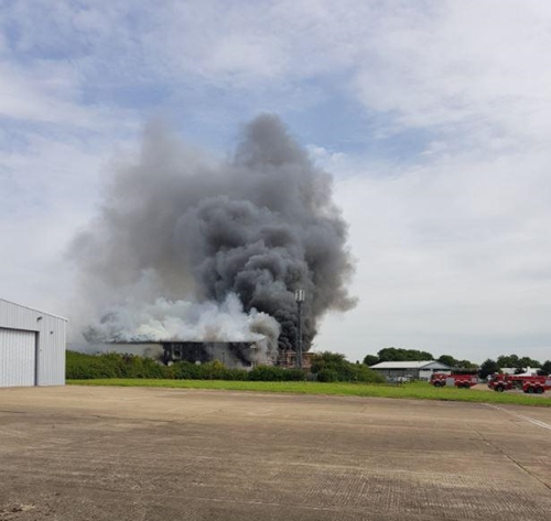 Fire Explosion Breaks Out at London Southend Airport Hangar (Photos)