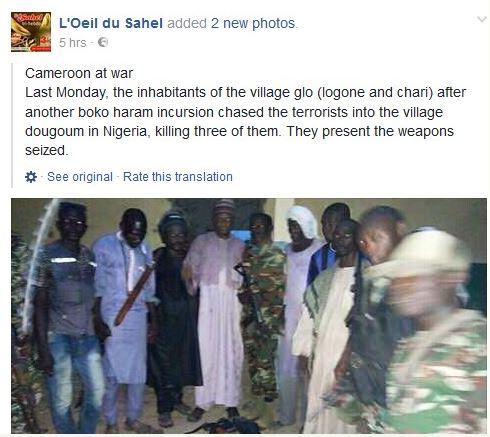 Cameroonian Vigilante Chases Boko Haram Terrorists