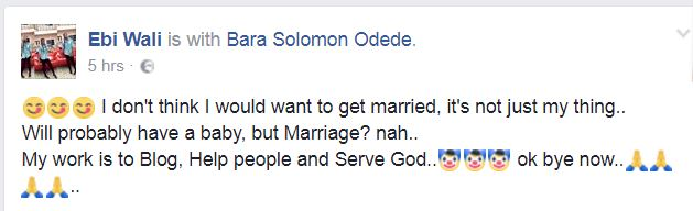 I Don't Want to Get Married, I Might Be a Baby Mama - Nigerian Girl