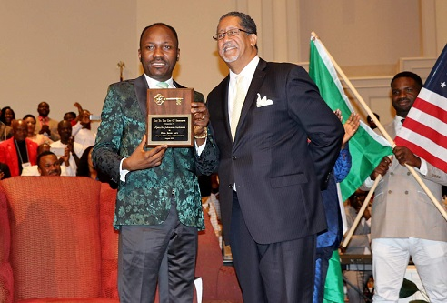 Apostle Johnson Suleman Receives 'Key to the City' From Mayor of Atlanta, Awarded Doctorate Degree in US