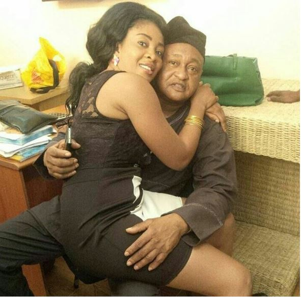 Suggestive Photo of Legendary Actor Jide Kosoko and Daughter Surfaces Online