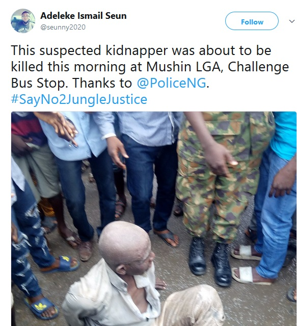 Suspected Kidnapper Thanks Police For Rescue From Mob