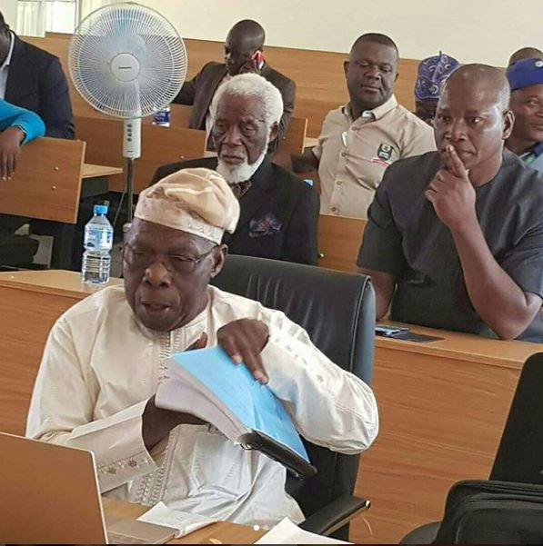Obasanjo Defends His Project Work at the University (Photos)