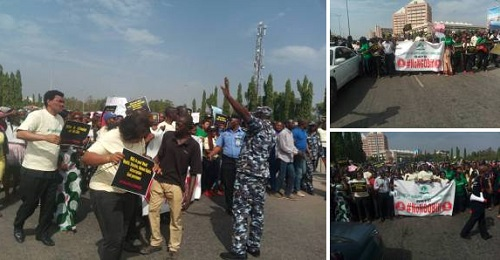 BREAKING: Protesters Led By Chidi Odinkalu Storm National Assembly Over NGO Bill
