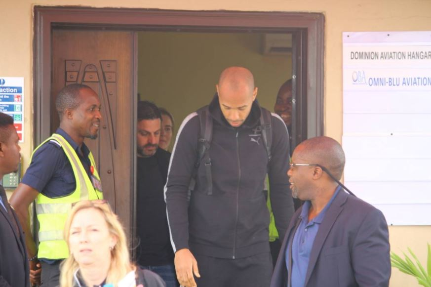 Thierry Henry Arrives Nigeria in Grand Style (Photos)