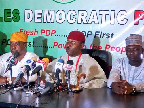 See Faces of 5-Man Team Behind the Newly Launched Faction of PDP and Their Abuja Headquarters (Photos)